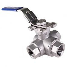 "1/2"" FPT 3 Way Ball Valve - T Port"