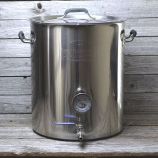 15 Gallon Tri Ply Bottom Kettle with Welded Couplers