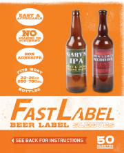 Fast Label 22 Oz. Beer