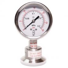 "1.5"" Tri Clamp Pressure Gauge - 0-29PSI - Bottom Mount"