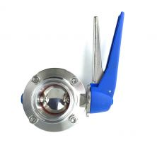 "2"" Tri Clamp (TC) Butterfly Valve with squeeze trigger"