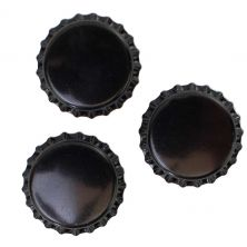 Black Bottle Caps