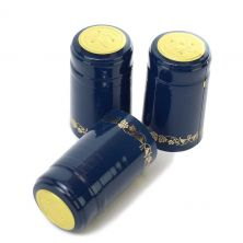 Blue/Gold Grapes PVC Shrink Cap (30 Count)