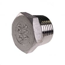 "Hex Plug - 1/2"" NPT - Stainless Stee"