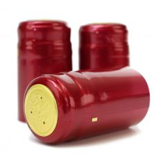 Metallic Ruby Red PVC Shrink Cap