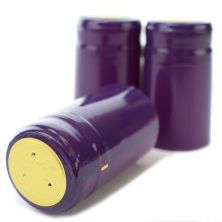 Purple PVC Shrink Cap (30 Count)