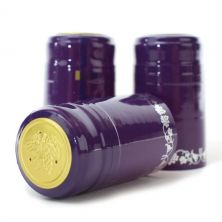 PURPLE/SILVER GRAPES PVC SHRINK CAPS WINE