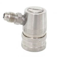"Stainless Steel Ball Lock Disconnect - Gas - 1/4"" MFL"