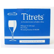 Titrets - SO2 Sulfur Test Kit - 10 Per Box