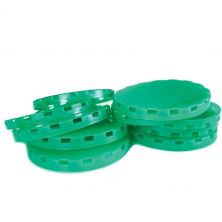 Vented Plastic Keg Caps - Green - 500 Count