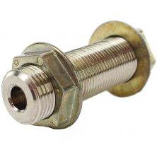 "Wall Coupling - 4"" Length x 3/8"" Bore - Chrome Plated Brass"