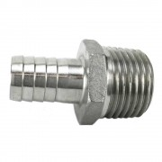 """1/2"""" Male NPT x 1/2"""" Barb - Stainless Steel"""