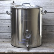15 Gallon Tri Ply Bottom Brew Kettle With Welded Couplers Assembly