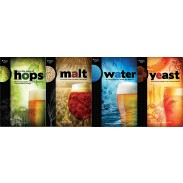Brewing Elements Series - Hops, Malt, Water, and Yeast Book Set