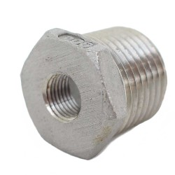 "1/2"" MPT to 1/8"" FPT Bushing - Stainless Steel"