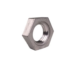 "1/4"" Stainless Steel NPT Lock Nut - With Groove"