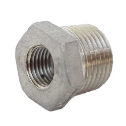 "1/2"" MPT to 1/4"" FPT Bushing - Stainless Steel"