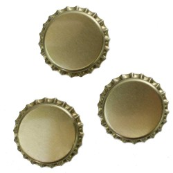 29mm Gold Crown Bottle Caps - 100 count