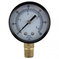 CO2 Regulator Gauge - Dispensing Pressure - 0-60PSI - Right Hand Thread