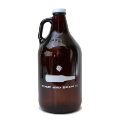 Amber 1/2 Gallon Growler - TBI Logo
