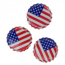 American Flag Bottle Caps