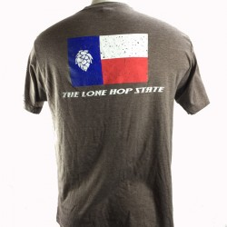Lone Hop State T-Shirt - Heather Brown