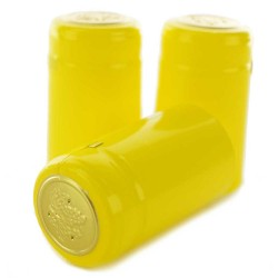 Gloss Yellow PVC Shrink Cap