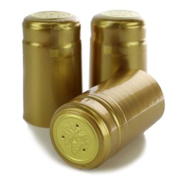Gold PVC Shrink Cap (500 Count)
