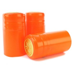 Orange PVC Shrink Cap