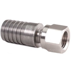 "Swivel Nut 1/4"" MFL (Male Flare thread) to 1/2"" Barb"