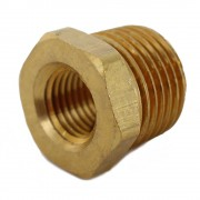 """1/2"""" MPT to 1/4"""" FPT Bushing - Brass"""