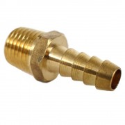 """1/4"""" MPT to 1/4"""" Barb - Brass"""