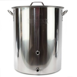 "15 Gallon Stainless Steel Brew Kettle with 1/2"" Welded NPT Ports"