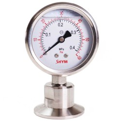 "1.5"" Tri Clamp Pressure Gauge - 0-60PSI - Bottom Mount"