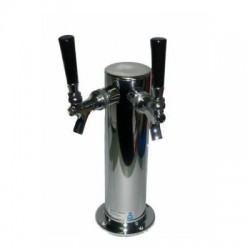 "Double Faucet Tap Tower - 3"" Column"