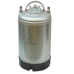 New Ball Lock Keg - 3 Gallon - Single Metal Handle Top