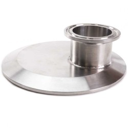 "4"" to 1.5"" Tri Clamp Cap-Style Reducer"