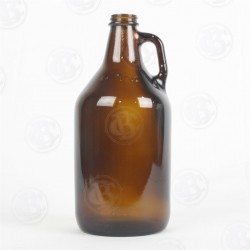 Amber 1/2 Gallon Growler - Blank