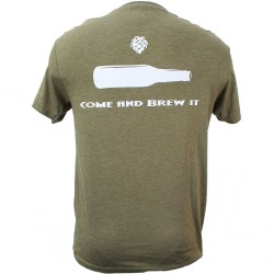 Come and Brew It T-Shirt Back Green