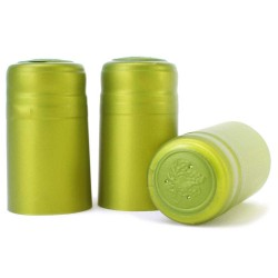 METALLIC LIME GREEN PVC SHRINK CAP WINE