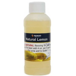 Natural Lemon Flavoring Extract 4 oz.