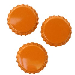 Orange Bottle Caps