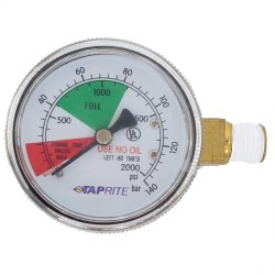 Taprite Regulator Gauge - Tank Pressure - 2000 PSI