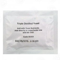 Triple Distilled Turbo Yeast for 2 Gallon Wash
