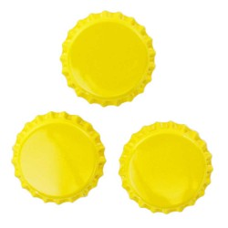 Yellow Bottle Caps