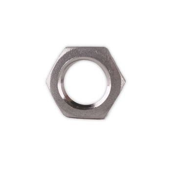 "1/4"" Stainless Steel NPT Lock Nut - No Groove"
