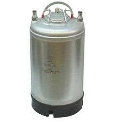 New Ball Lock Keg- 2.5 Gallon - Single Metal Handle Top