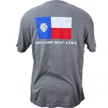 Lone Hop State T-Shirt Back- Heather Gray.