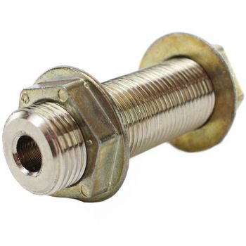 "Wall Coupling - 3"" Length x 3/8"" Bore - Stainless Steel"