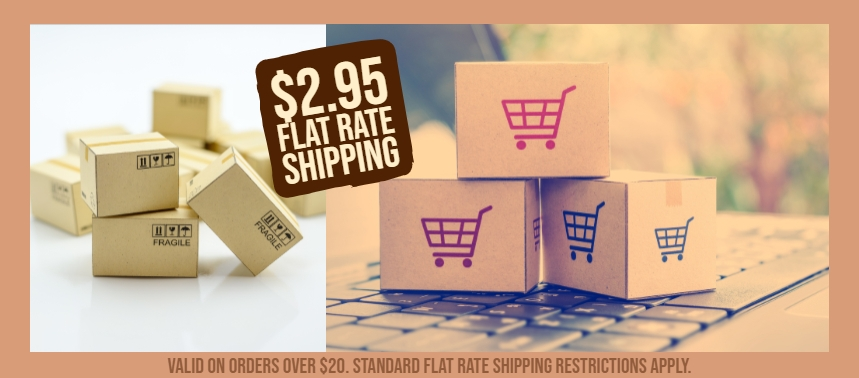 $2.95 Flat Rate Shipping